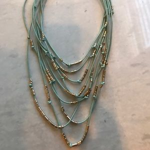 NWT blue and gold layered necklace